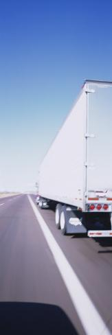 Semi-Truck on a Highway Photographic Print