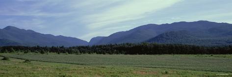 Silhouette of Mountains, Sawtooth Mountains, Lake Placid, New York, USA Photographic Print