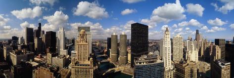 Skyline from Lake Michigan, Chicago, Illinois, USA Photographic Print