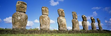 Stone Heads, Easter Islands, Chile Photographic Print