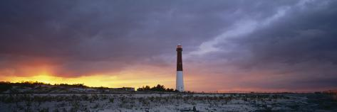 Sunset, Barnegat Lighthouse State Park, New Jersey, USA Photographic Print