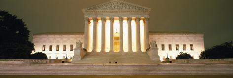 Supreme Court Building Illuminated at Night, Washington DC, USA Photographic Print