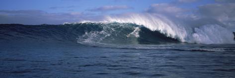 Surfer in the Sea, Maui, Hawaii, USA Photographic Print