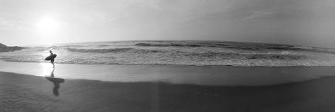 Surfista, San Diego, Califórnia, EUA Impressão em tela emoldurada
