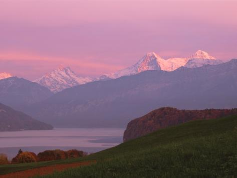 Switzerland, Bernese Alps, Lake Thun Photographic Print