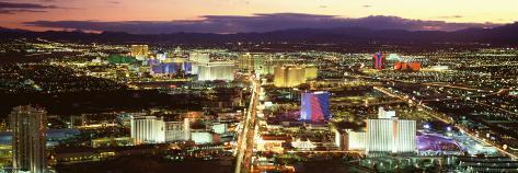 The Strip, Las Vegas Nevada, USA Photographic Print