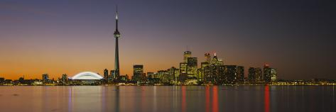 Toronto Skyline at Dusk, Ontario Canada Wall Decal