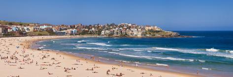 Tourists on the Beach, Bondi Beach, Sydney, New South Wales, Australia Photographic Print