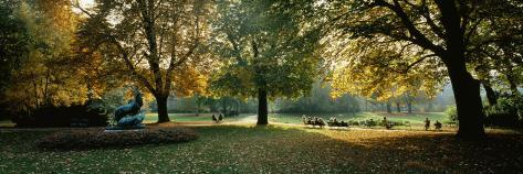 Trees in a Formal Garden, Le Jardin Du Luxembourg, Paris, France Photographic Print