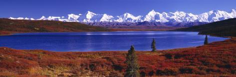 Wonder Lake in Autumn, Alaska, USA Photographic Print