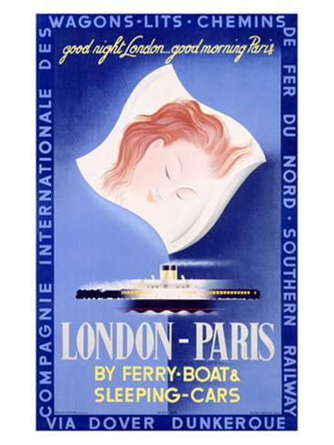 London to Paris Giclee Print