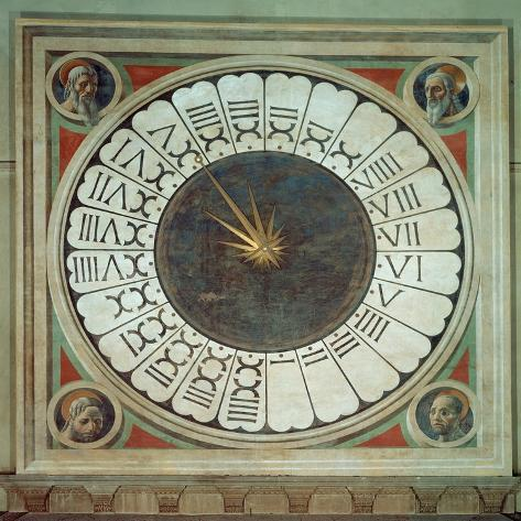 Canonical Clock with the Heads of Four Prophets, Completed 1443 Lámina giclée