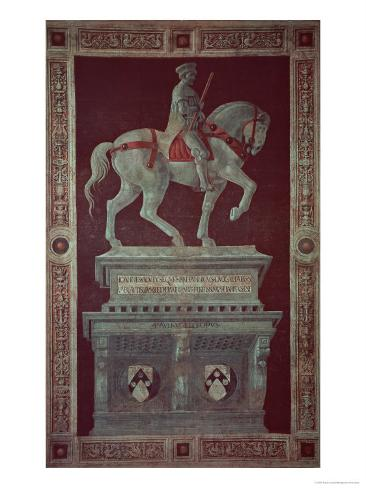 Equestrian Monument of Sir John Hawkwood Giclee Print