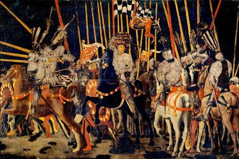 Micheletto da Cotignola Engages in Battle (Battle of San Romano) Lámina