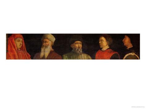 Portraits of Giotto (circa 1266-1337) Uccello, Donatello (circa 1386-1466) Manetti (circa 1405-60) Giclee Print