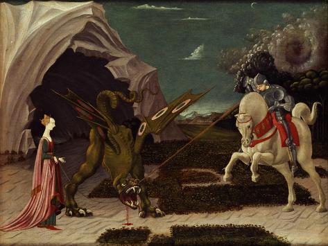 St. George and the Dragon, circa 1470 Giclee Print