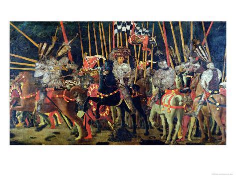 The Battle of San Romano in 1432, circa 1456 Giclee Print