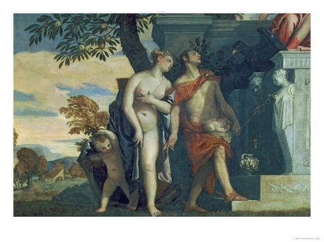 Venus and Mercury Presenting Her Son Anteros to Jupiter Giclee Print