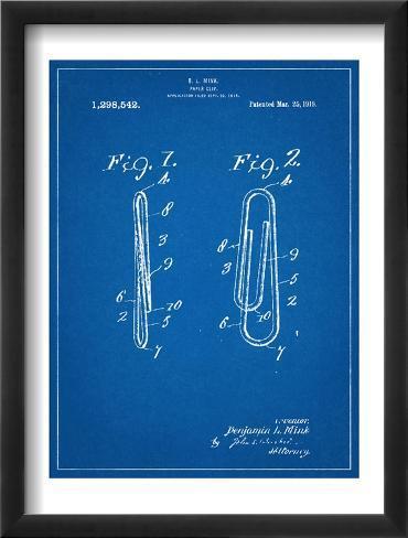 Paper Clip Patent Framed Art Print