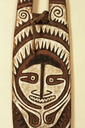 Carved Ancestor Board, Papua New Guinea, Mid 20th Century Photographic Print