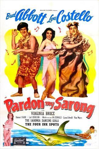 Pardon My Sarong Art Print