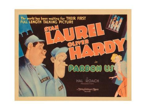 Pardon Us, Titlecard, Front, from Left: Oliver Hardy, Stan Laurel, 1931 Gicléetryck
