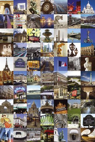 PARIS COLLAGE Poster