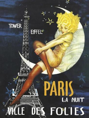 Paris Moon Giclee Print