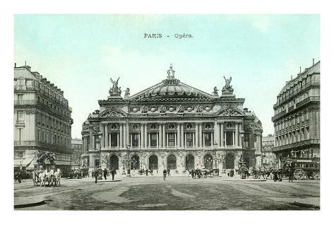Paris Opera House, France Art Print