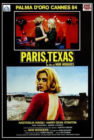 Paris, Texas - Italian Style Poster