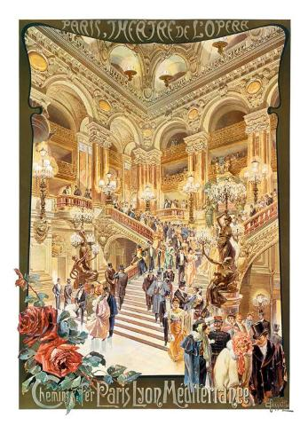 Paris, Theatre de l'Opera Art Print