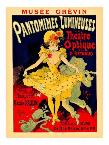 Paris Theatre Optique Giclee Print