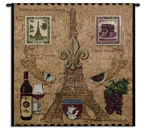 Paris With Love Wall Tapestry
