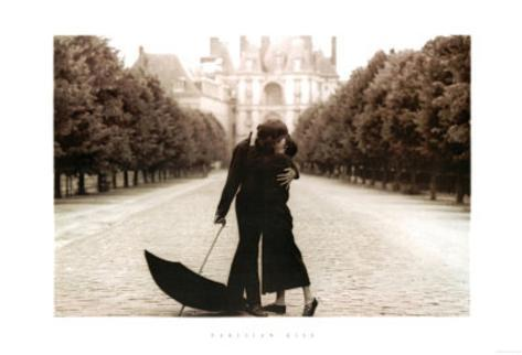 Parisian Kiss (Lovers) Art Poster Print Poster