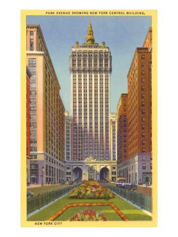 Park Avenue, New York Central Building, New York City Art Print