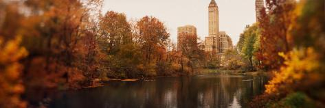 Park with Buildings in the Background, Central Park, Manhattan, New York City, New York State, USA Photographic Print