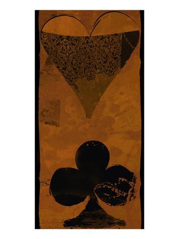 Poker Heart Art Print