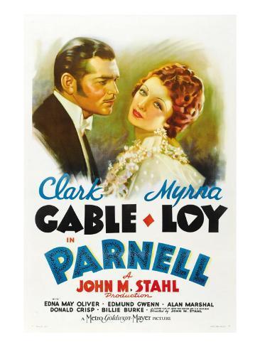 Parnell , Clark Gable, Myrna Loy, 1937 Stretched Canvas Print