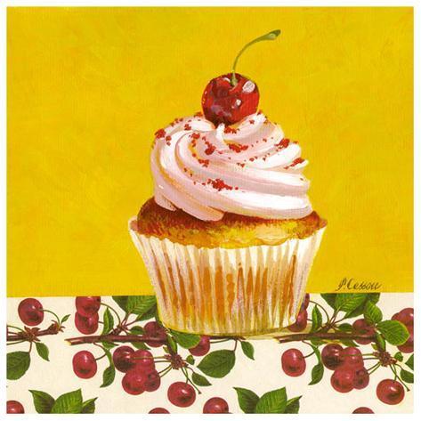 Cupcake Cerise Taidevedos