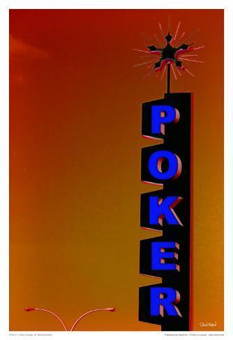 Poker - Orange Art Print