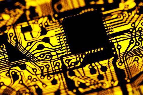 Printed Circuit Board, Artwork Photographic Print by PASIEKA ...