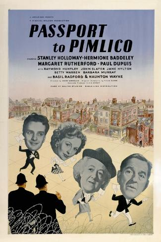 Passport To Pimlico, 1949, Directed by Henry Cornelius Giclee Print