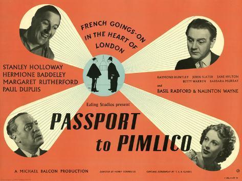 Passport to Pimlico Art Print