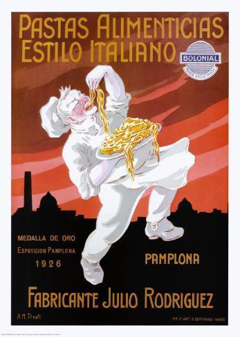 Pastas Alimenticias Estilo Italiano Framed Art Print