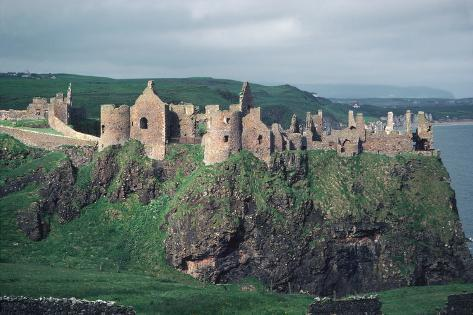 Dunluce Castle on Cliff, Northern Ireland Wall Mural