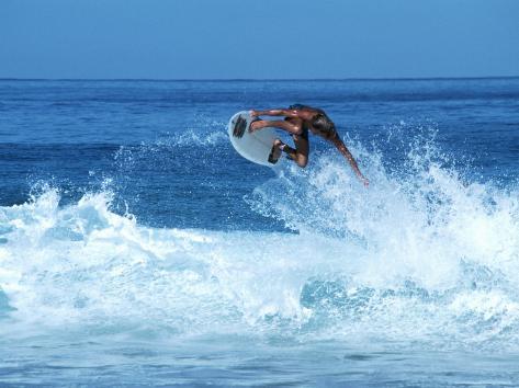 Surfing Banzai Pipeline, Oahu, HI Photographic Print