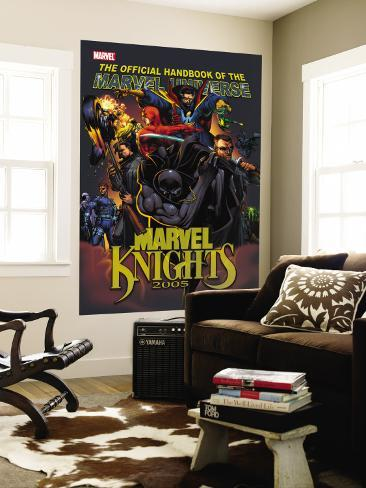 The Official Handbook Of The Marvel Universe: Marvel Knights 2005 Cover: Black Panther Wall Mural