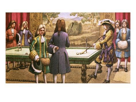 Billiards, as Played by Louis Xiv at Versailles Giclee Print