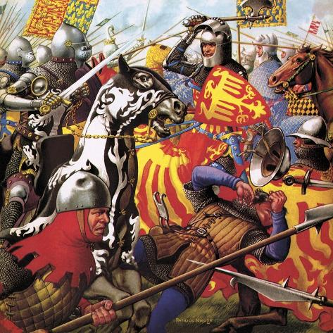 The Hundred Years War: the Struggle for a Crown Giclee Print