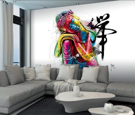 Patrice Murciano Buddha Mural Mural de papel de parede